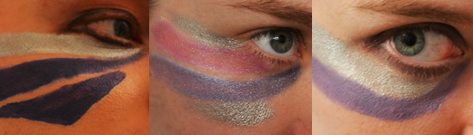 The Glitterati makeup test
