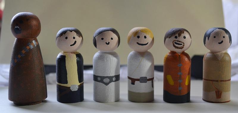 Wedding Pegs - Star Wars