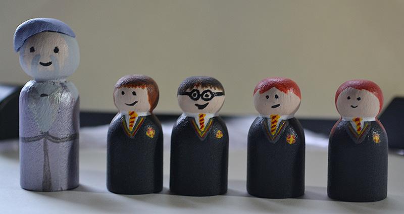 Wedding Pegs - Harry Potter